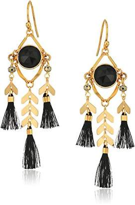 Chan Luu Stone and Tassel Drop Earrings