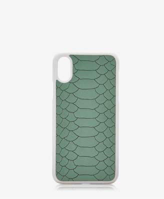 GiGi New York Iphone X Hard-Shell Case In Eucalyptus Embossed Python
