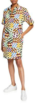 Akris Punto Patchwork-Print Tunic Dress