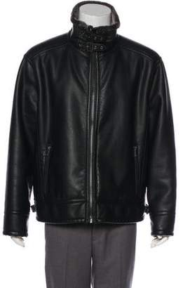 Andrew Marc Faux Fur-Lined Jacket