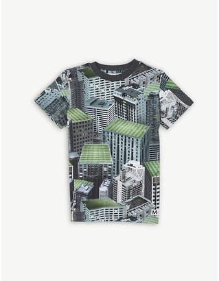 Molo Raymont graphic print cotton t-shirt 4-14 years