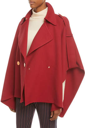 See by Chloe Snap-Front Trench Cape