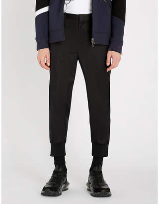 Neil Barrett Ribbed-cuff slim-fit tapered stretch-cotton trousers