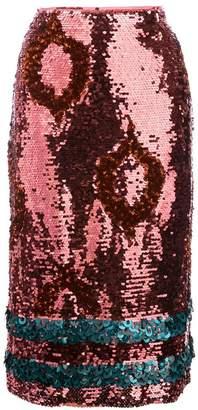Sachin + Babi Domdurma sequin skirt