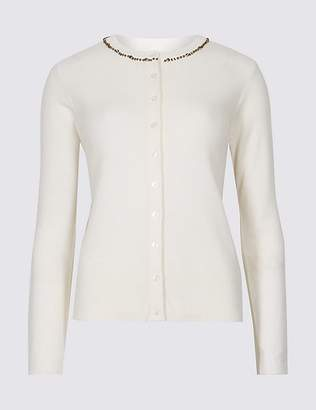 Marks and Spencer Embellished Long Sleeve Cardigan