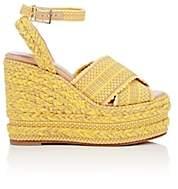 ANTOLINA Women's Candelaria Cotton Platform-Wedge Sandals - Yellow