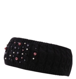 Black Multicolor Pearl Headband