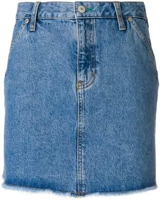 Tommy Jeans raw edge denim skirt