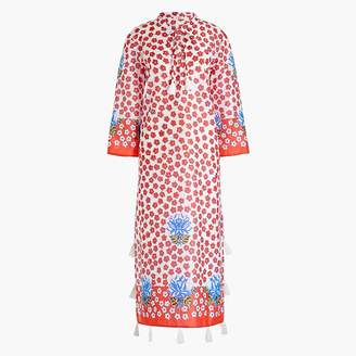 J.Crew Printed beach caftan with tassels
