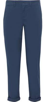 Vince Cropped Cotton-Blend Canvas Tapered Pants