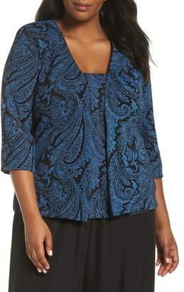 Alex Evenings Alex Evening Print Jacquard Twinset