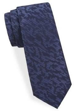 Saks Fifth Avenue Camouflage-Print Silk Tie