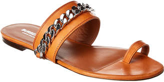 Burberry Chain Detail Leather Sandal