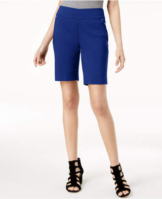 INC International Concepts I.n.c. Curvy-Fit Stud-Trim Bermuda Shorts