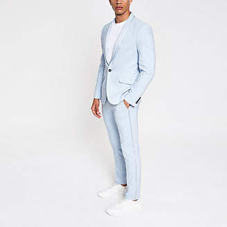 River Island Light blue skinny stretch suit trousers