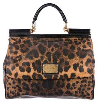 Dolce & Gabbana Animal Print Miss Sicily Bag