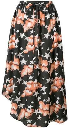 Loewe Stars asymmetric midi skirt