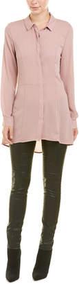 BCBGMAXAZRIA Pleated Back Shirtdress