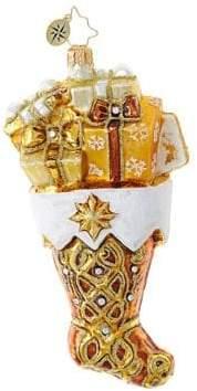 Christopher Radko Golden Gift Stocking Figurine