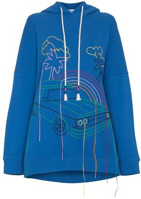 Mira Mikati oversized embroidered cotton hoodie