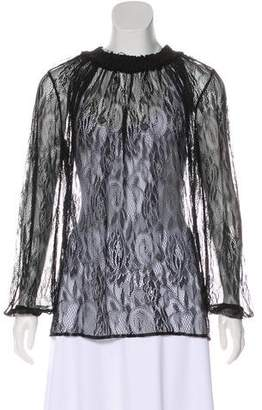 Raquel Allegra Long Sleeve Lace Top