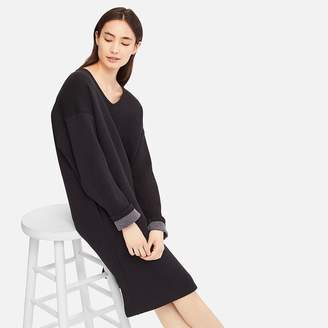 Uniqlo WOMEN Double Face V Neck Long Sleeve Dress