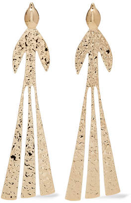 J.W.Anderson Hammered Gold-plated Earrings