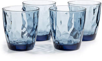 Bormioli Diamond 4-Pc. Double Old Fashioned Glass Set