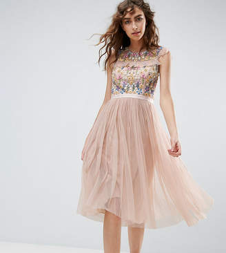 Needle & Thread Needle and Thread Floral Embroidery Midi Skater Dress