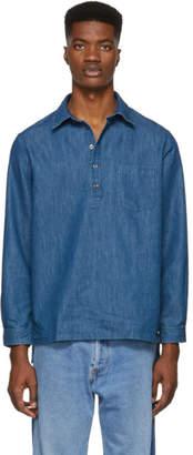 A.P.C. Indigo Aldric Popover Shirt