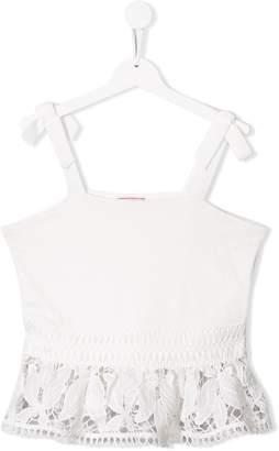 Pinko Kids embroidered sleeveless top