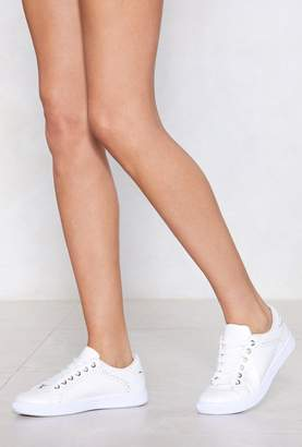 Nasty Gal Space Out Laser Cut Sneaker