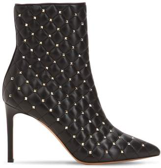 Valentino 90mm Rockstud Spike Leather Ankle Boots