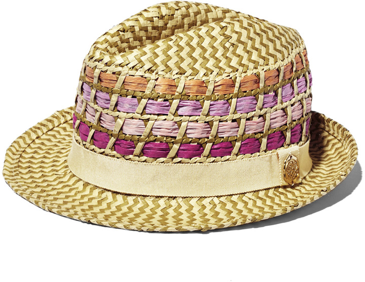Vince Camuto Fedora Color Straw