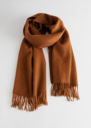 And other stories Wool Fringed Blanket Scarf