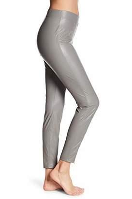 f7bc33d10494 Hue Women s Leatherette Faux Leather Leggings (Plus Size) Filament Grey