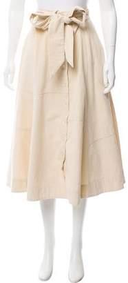 Lisa Marie Fernandez Corduroy Midi Skirt