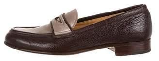 Gravati Leather Round-Toe Loafers