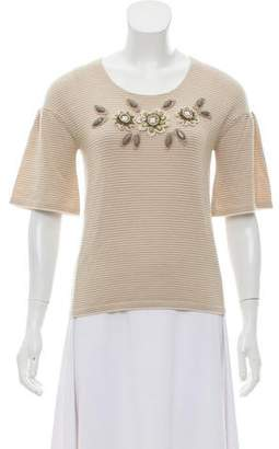 Cacharel Knit Bead-Accented Top