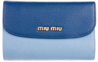 Miu MiuMiu Miu Madras Leather Wallet