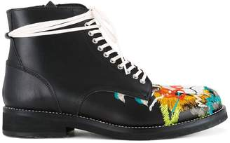 Doublet skull embroidered boots