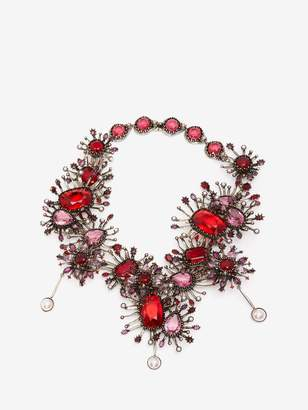 Alexander McQueen Jeweled Rose Choker