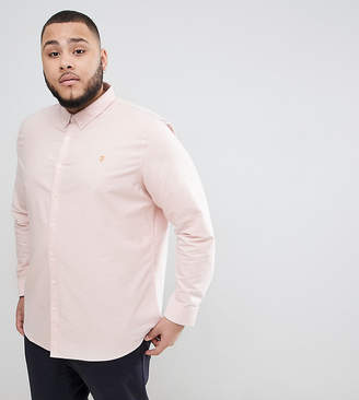 Farah Brewer slim fit shirt oxford shirt in pink
