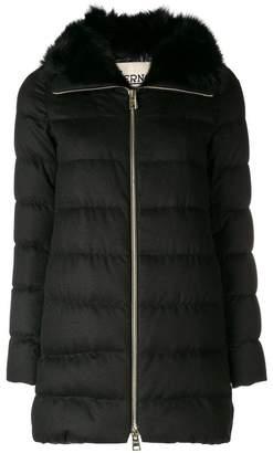 Herno fur lined coat