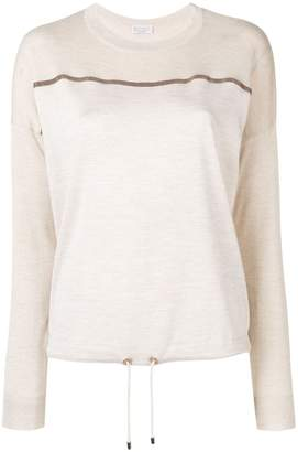 Brunello Cucinelli paneled knitted top