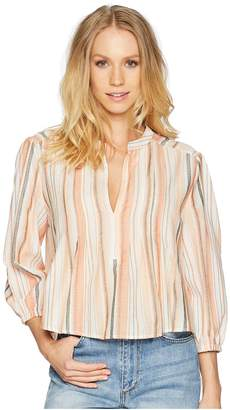 Bishop + Young Sunset Stripe 3/4 Sleeve Women's Blouse