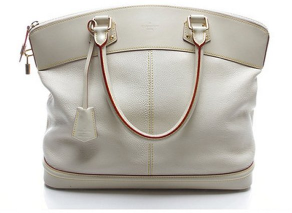Louis Vuitton Pre-Owned Ivory Suhali Lockit GM Tote Bag