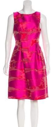 Lela Rose A-Line Patterned Dress
