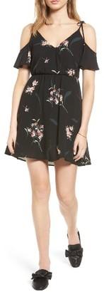 Women's Lush Surplice Cold Shoulder Dress $49 thestylecure.com