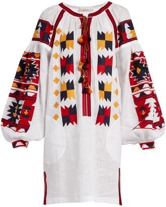 VITA KIN Magic embroidered linen dress